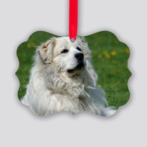 momo118 Great pyrenees Picture Ornament